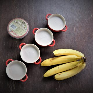 3-ingredient Vegan Banana and Coconut Milk Yoghurt Mousse