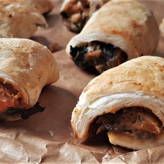 Sweet potato and chickpea sausage rolls