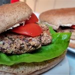 Black eye bean burgers