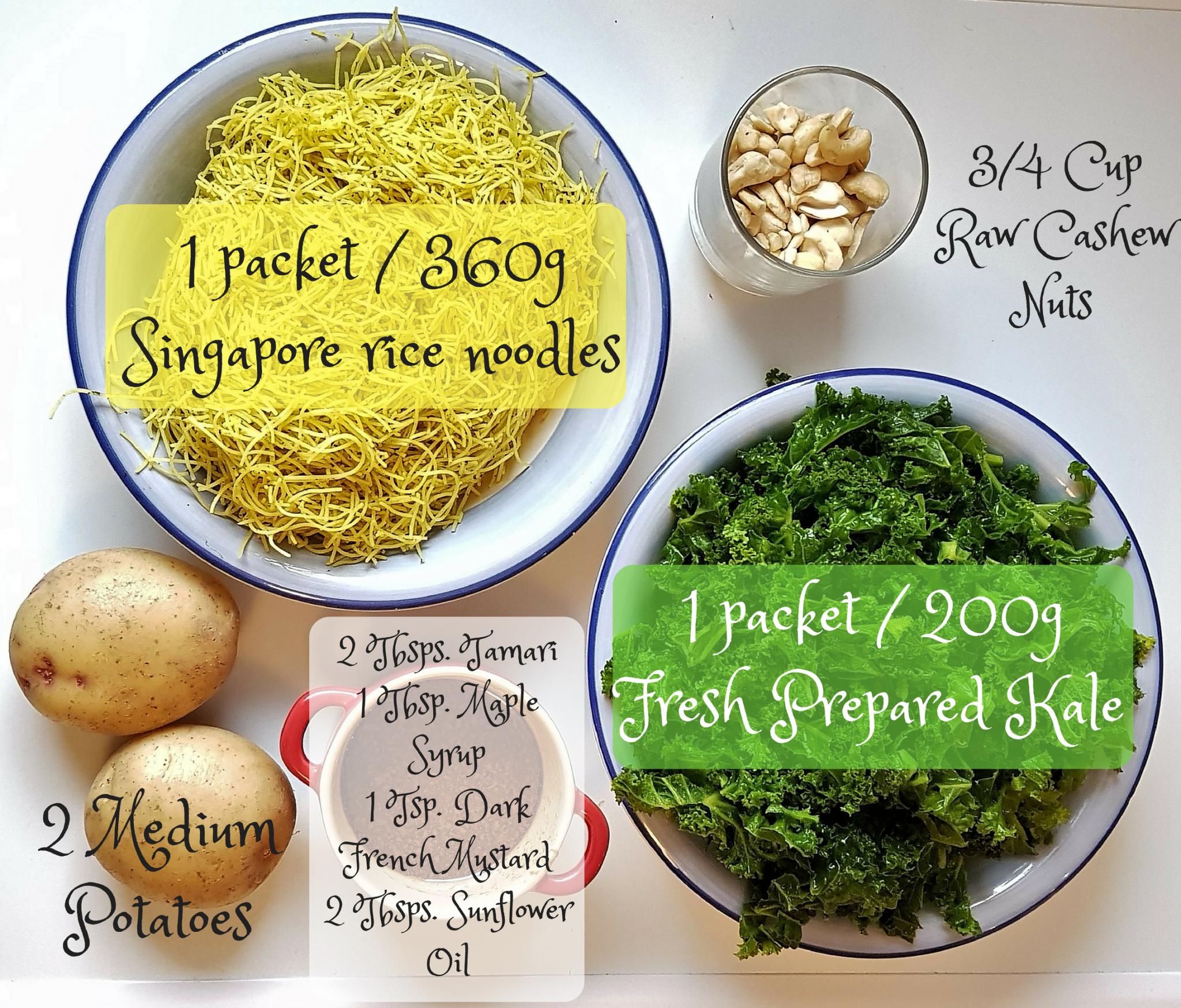 Kale Cashew Noodles