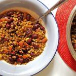 Bean and Lentil Stew (Inspired from Haşlanmış Kuru Fasulye)