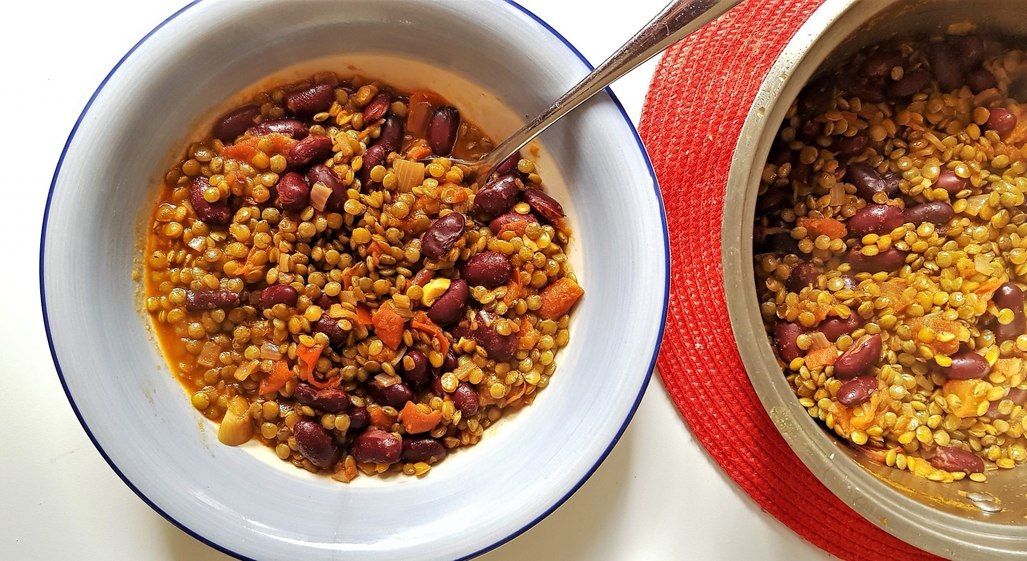 Bean and lentil stew