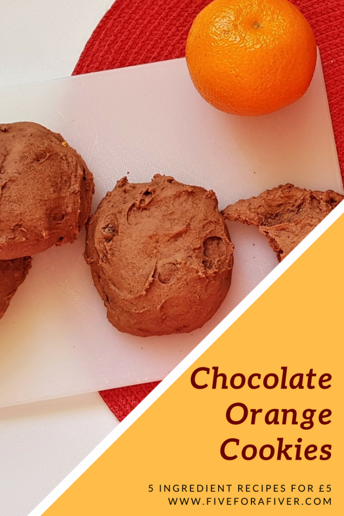 Chocolate Orange Cookies - fiveforafiver.com
