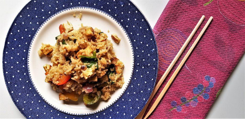 One pot tofu fried rice recipe