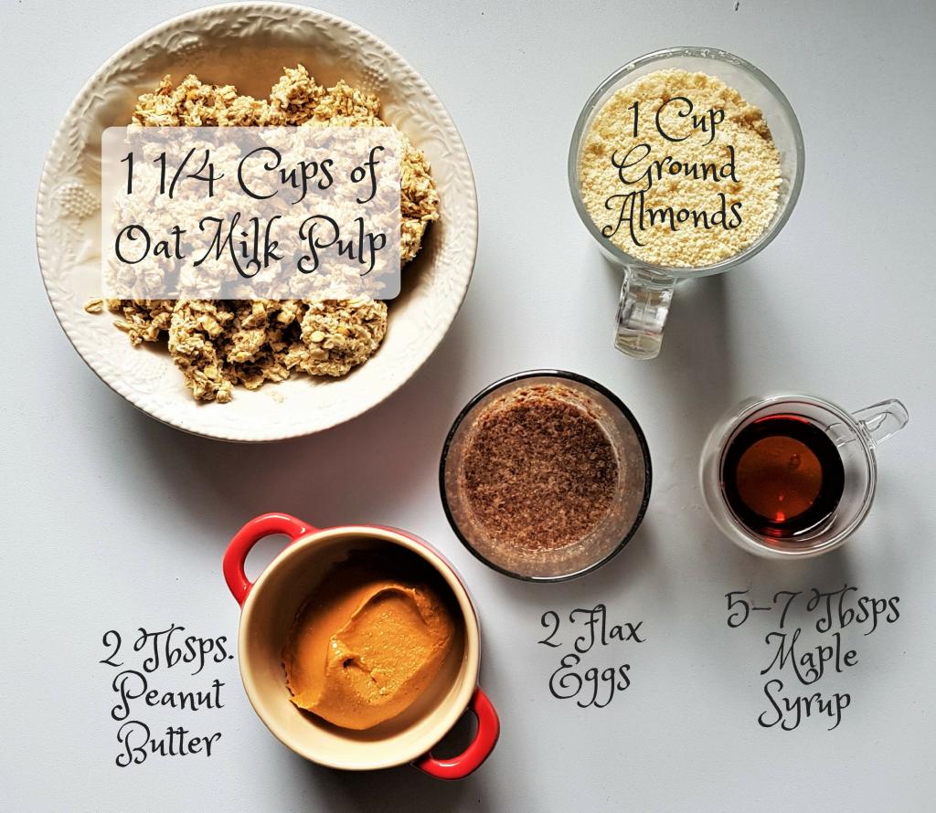 Oat Pulp Peanut Butter Cookies - Ingredients