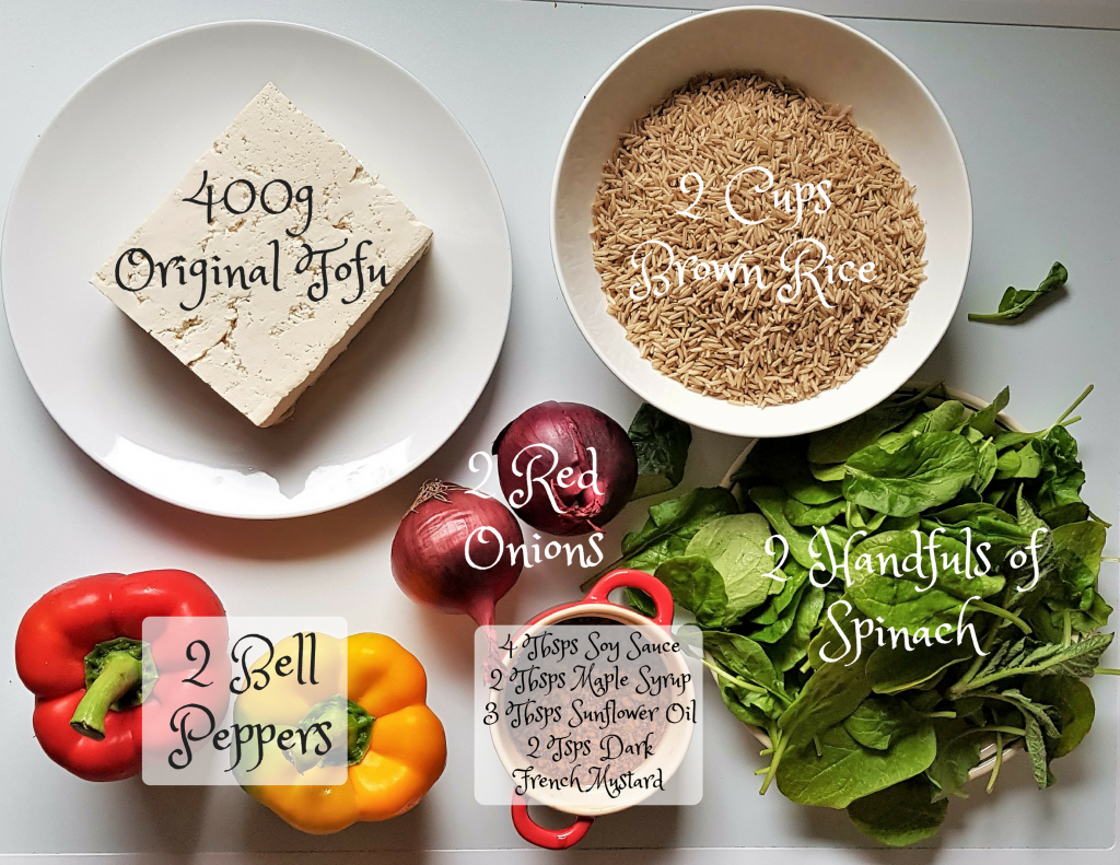 One Pot Tofu Fried Rice - Ingredients