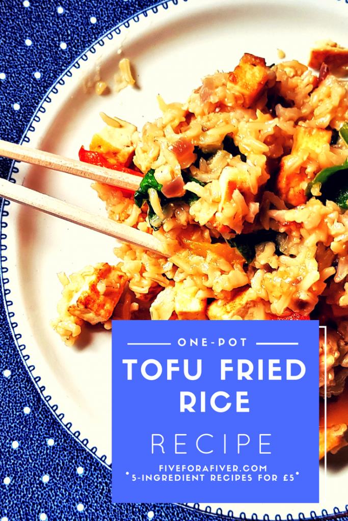 One-Pot Tofu Fried Rice Recipe - fiveforafiver.com