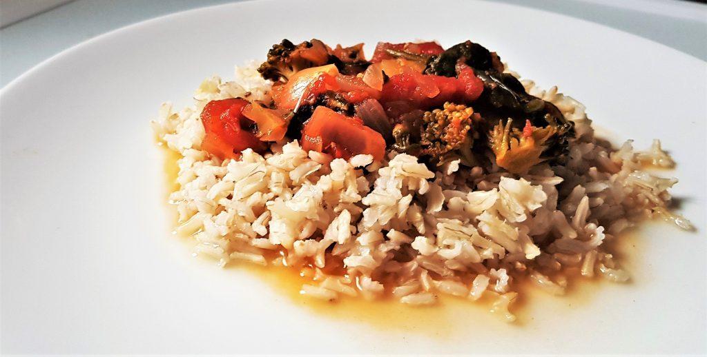 5-ingredient spinach rice recipe -
